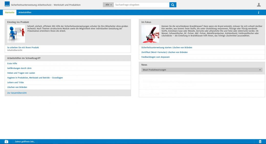 screen weka business portal